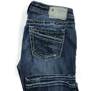 Silver Jeans 27x33 Aiko Bootcut Distressed Jeans
